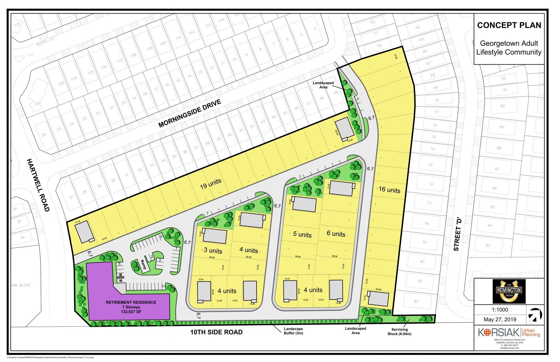 Korsiak Urban Planning - Halton Hills Portfolio - Georgetown Seniors, Greenfield Development - Halton Hills, Ontario