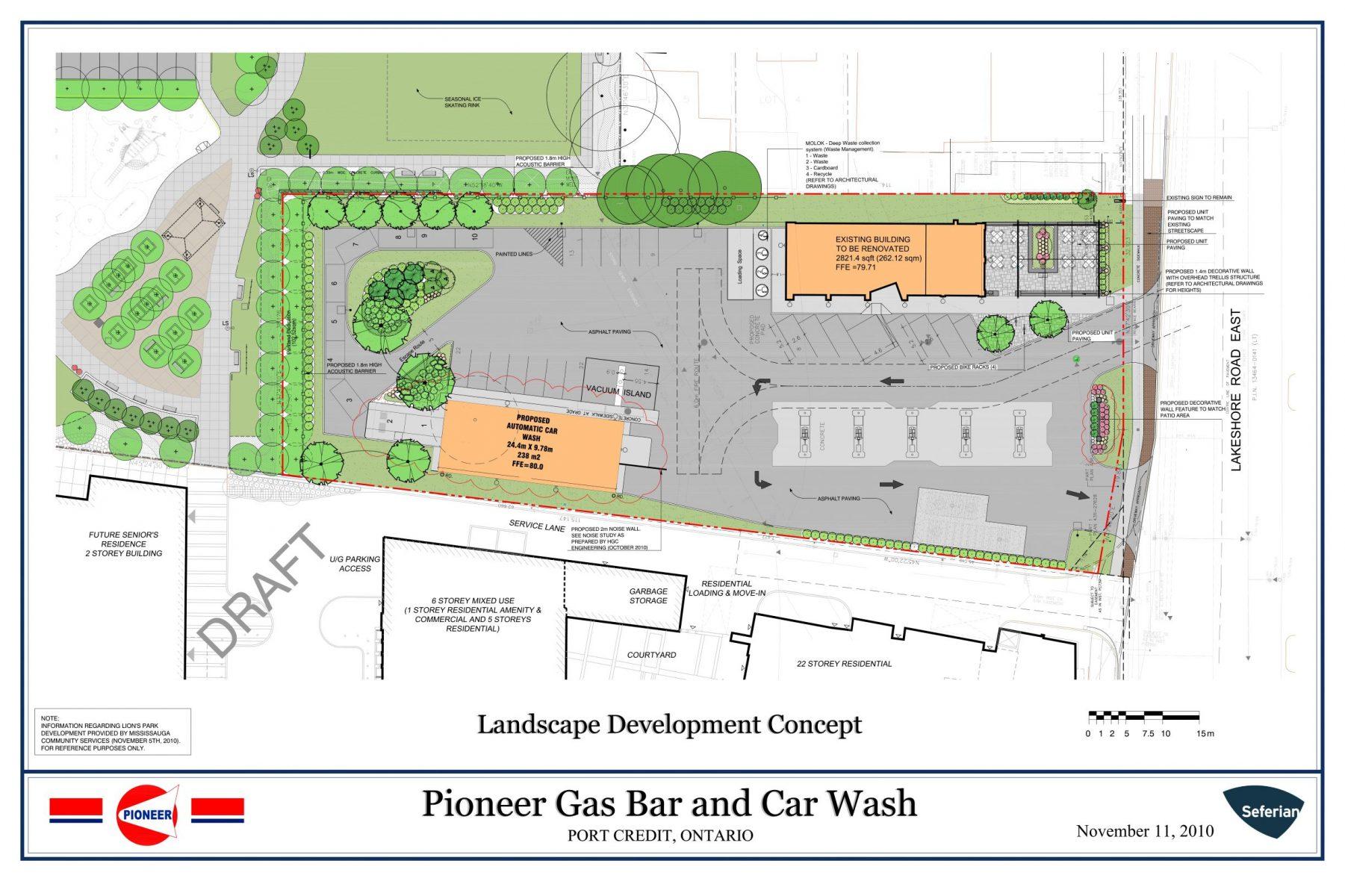 Korsiak Urban Planning - Mississauga Portfolio - Pioneer Gas Bar Port Credit, Commercial Development - Mississauga, Ontario