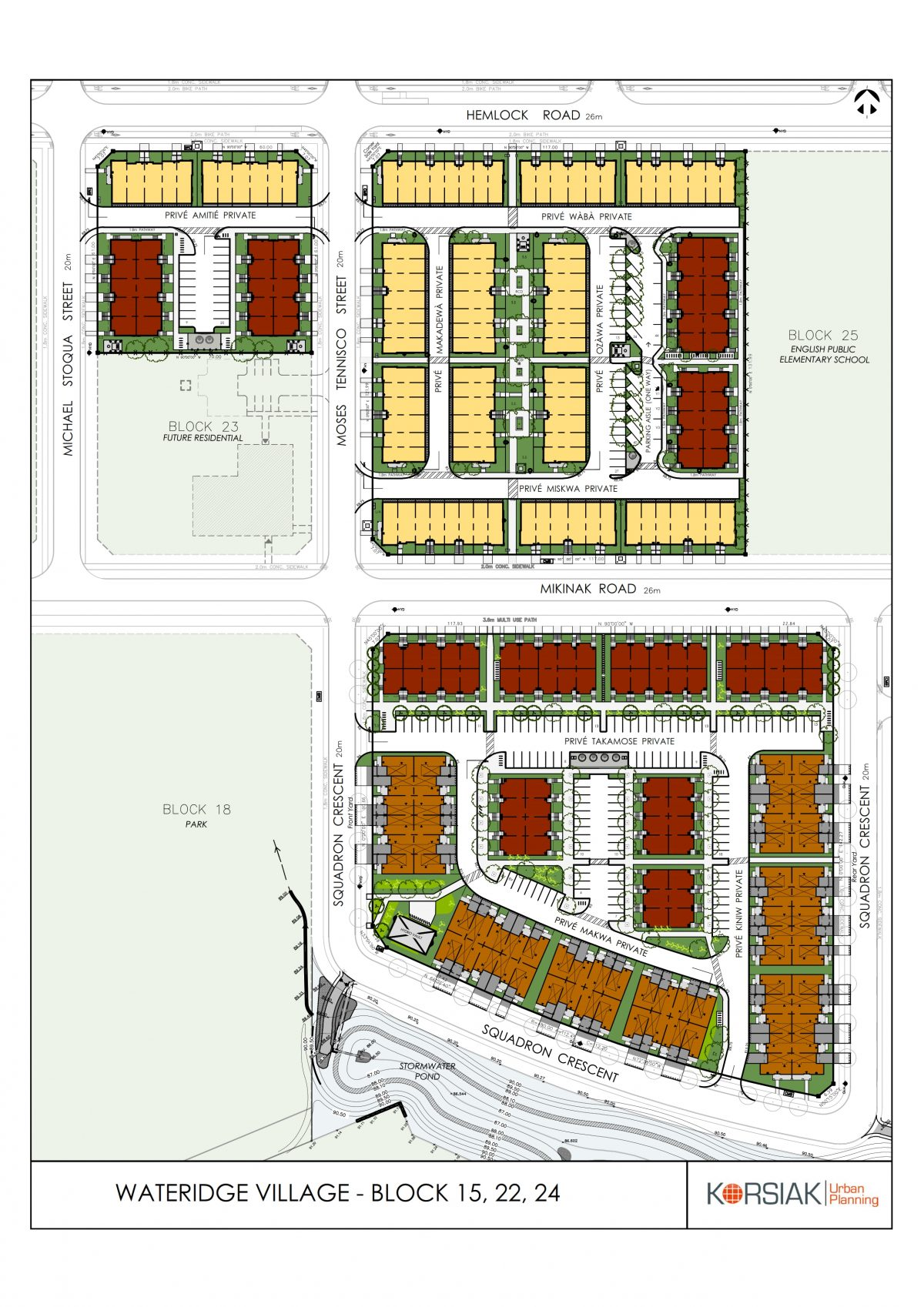Korsiak Urban Planning - Ottawa Portfolio - Wateridge Village, Greenfield Development - Ottawa, Ontario