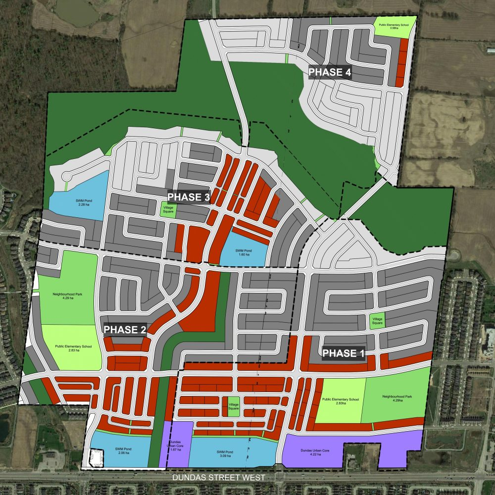 Korsiak Urban Planning - Oakville Portfolio - Dundas Street, Mixed Use, Greenfield Development - Oakville, Ontario